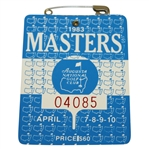 1983 Masters Tournament Series Badge #04085 - Seve Ballesteros Winner