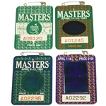 1990, 1991, 1992, & 1994 Masters Tournament Series Badges - Faldo, Woosnam, Couples, & Olazabal