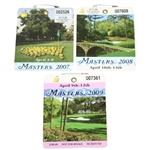 2007, 2008, & 2009 Masters Tournament Series Badges - Johnson, Immelman, & Cabrera Winner
