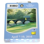 2016 Masters Tournament Series Badge #R10943 - Danny Willett Winner