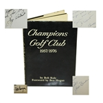 Jimmy Demaret & Jack Burke Signed & Inscribed Champions GC 1957/1976 Book JSA ALOA