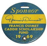 1969 Francis Ouimet Caddie Scholarship Fund Sponsor Badge - T.C.C. Golf Club, Mass.