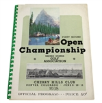 1938 US Open Championship at Cherry Hills CC Program - Ralph Guldahl Winner