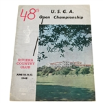1948 US Open Championship at Riviera CC Program - Ben Hogan Winner