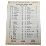 Deane Bemans 1960 Masters Tournament Friday Pairing Sheet - Arnold Palmer Win