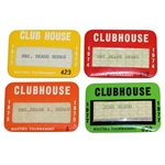Judy Bemans Masters Clubhouse Badges - 1973, 1974, 1975, & 1977
