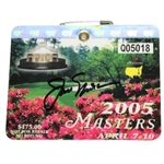 Jack Nicklaus Signed 2005 Masters SERIES Badge #Q05018 JSA ALOA
