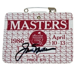 Jack Nicklaus Signed 1986 Masters SERIES Badge #A6364 JSA ALOA