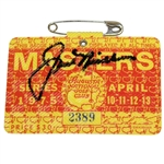 Jack Nicklaus Signed 1975 Masters SERIES Badge #2389 JSA ALOA