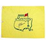 Jack Nicklaus Signed 2008 Masters Embroidered Flag JSA ALOA