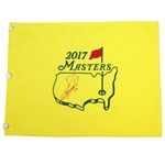 Fuzzy Zoeller Signed 2017 Masters Embroidered Flag JSA ALOA
