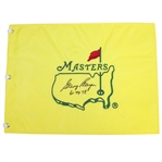 Gary Player Signed Undated Masters Embroidered Flag with Years Won Inscription JSA ALOA