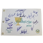 2005 Presidents Cup Embroidered White Flag Signed by International Team JSA ALOA