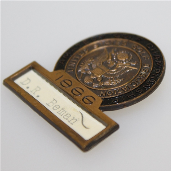 Deane Beman's 1966 US Amateur Championship Contestant Badge - Runner-Up