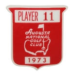 Deane Bemans 1973 Masters Tournament Contestant Badge #11 - Tommy Aaron Winner