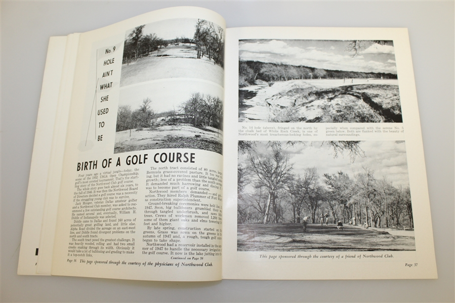 1952 US Open Championship at Northwood CC Program - Julius Boros Winner