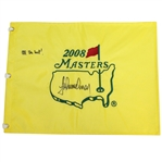 Trevor Immelman Signed 2008 Masters Embroidered Flag with All the Best Notation JSA ALOA