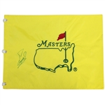 Fuzzy Zoeller Signed Undated Masters Embroidered Flag JSA ALOA