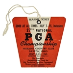 1945 PGA Championship at Moraine CC Ticket - Byron Nelson 9th Win in Streak of 11!