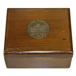 1951 Masters Tournament Wood Box Gift Given To Mrs. Forest Norton