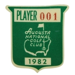 Tom Watsons 1982 Masters Tournament Defending Champion Contestant Badge #001