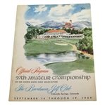 1959 US Amateur Championship at Broadmoor GC Program - Jack Nicklaus Winner