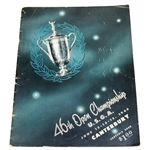1946 US Open Championship at Canterbury Program - Lloyd Mangrum Winner