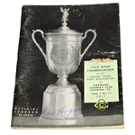 Ben Hogan Signed 1953 US Open Championship at Oakmont CC Program JSA ALOA
