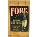 Fore Brand Quality Lettuce Vintage Golf Themed Crate Label