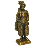 USGA Gold Colored Golfer Statuette with Bag and Clubs