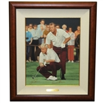 Palmer & Nicklaus Signed The King & The Golden Bear II Ltd Ed Rundell Deluxe Serigraph