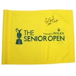 Fred Couples Signed 2012 Senior British Open Course Flag with Letter JSA ALOA