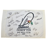 Arnold Palmer Signed 1997 Palmer Cup Flag with Competitors Signatures JSA ALOA