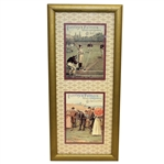 Huntley & Palmers Multiple Sport Display - Golf & Baseball - Framed - Roth Collection