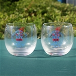 1965 US Open at Bellerive Set of Drinking Glasses - Player Completes Career Grand Slam - Roth Collection