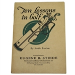 1923 Ten Lessons in Golf by Jack Burke Booklet - Roth Collection