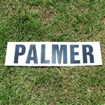 Arnold Palmer Masters Tournament Authentic Scoreboard Nameplate with Letter