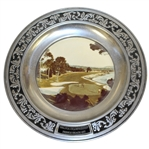 59th PGA Championship at Pebble Beach Commemorative Pewter Plate with Center Photo - 1977