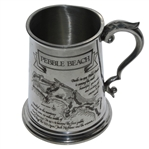 Pebble Beach First Public Course to Stage US Open Course Pewter Golf Tankard - Made in England