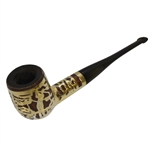 Vintage Golf Themed Sterling Silver Overlay Smoking Pipe