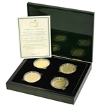 Arnold Palmer Ltd Ed Masters Championship Silver & Gold Coins in Original Emerald Green Box
