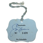 Jack Nicklaus Signed 1978 Open Championship at St. Andrews Ticket #1438 JSA #R07589
