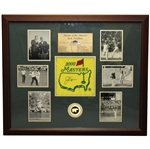 Jack Nicklaus Signed 2000 Flag Ltd Ed Master of the Masters Photo Display 55/100 - Framed JSA ALOA