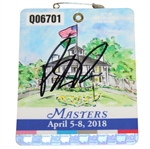 Patrick Reed Signed 2018 Masters Series Badge #Q06701 PSA/DNA #AD72956
