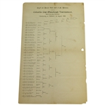 1899 R&A St. Andrews Calcutta Cup Tournament Bracket Sheet with F.G. Tait