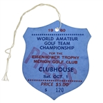 1960 World Amateur Team Championship at Merion Press Clubhouse Ticket #120 - Saturday