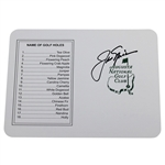 Jack Nicklaus Signed Augusta National Golf Club Official Scorecard JSA ALOA