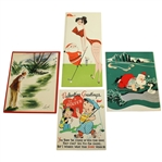 Four Christmas/Holiday/Season Greetings Cards - Ed Furgol, John Derr, & others