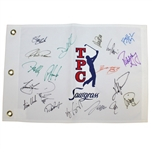Multi-Signed TPC Sawgrass Embroidered Flag JSA ALOA