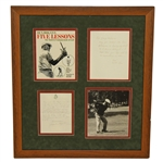 Ben Hogan Signed Love, Uncle Ben to Niece Jacqueline Five Lessons Display - Framed JSA ALOA